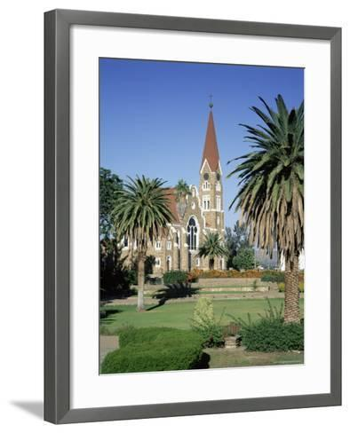 Christuskirche (Lutheran Christian Church) and Parliament Gardens, Windhoek, Namibia, Africa-Gavin Hellier-Framed Art Print