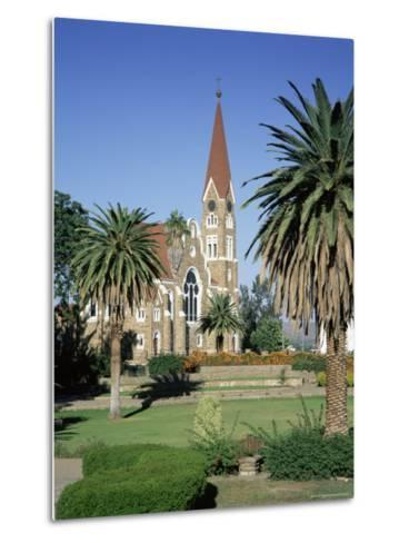 Christuskirche (Lutheran Christian Church) and Parliament Gardens, Windhoek, Namibia, Africa-Gavin Hellier-Metal Print