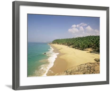 Beach and Coconut Palms, Kovalam, Kerala State, India, Asia-Gavin Hellier-Framed Art Print
