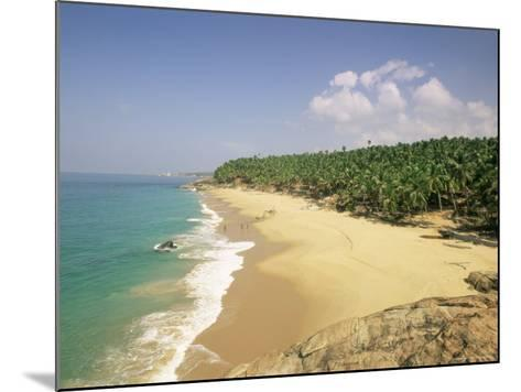 Beach and Coconut Palms, Kovalam, Kerala State, India, Asia-Gavin Hellier-Mounted Photographic Print