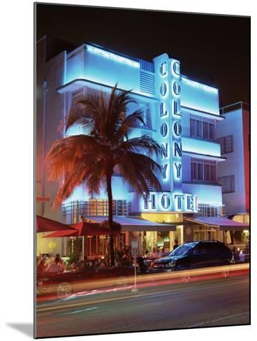Art Deco District at Dusk, Ocean Drive, Miami Beach, Miami, Florida, United States of America-Gavin Hellier-Mounted Photographic Print