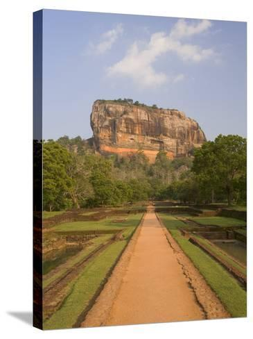 The Rock Fortress of Sigiriya (Lion Rock), Unesco World Heritage Site, Sri Lanka, Asia-Gavin Hellier-Stretched Canvas Print