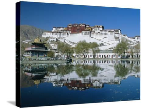 The Potala Palace and Reflection, Lhasa, Tibet, China, Asia-Gavin Hellier-Stretched Canvas Print