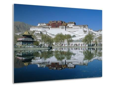 The Potala Palace and Reflection, Lhasa, Tibet, China, Asia-Gavin Hellier-Metal Print