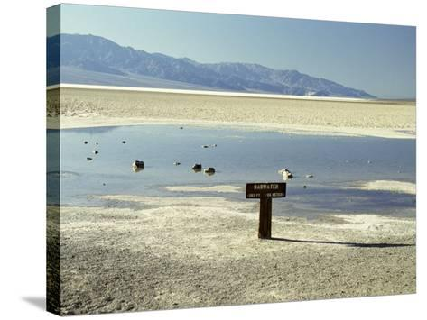 Badwater, Lowest Point in the U.S.A., Death Valley, California, United States of America (U.S.A.)-Gavin Hellier-Stretched Canvas Print