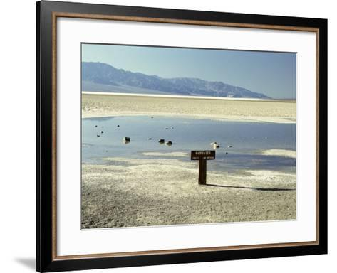 Badwater, Lowest Point in the U.S.A., Death Valley, California, United States of America (U.S.A.)-Gavin Hellier-Framed Art Print