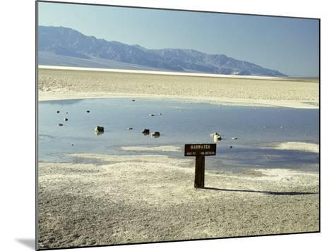 Badwater, Lowest Point in the U.S.A., Death Valley, California, United States of America (U.S.A.)-Gavin Hellier-Mounted Photographic Print
