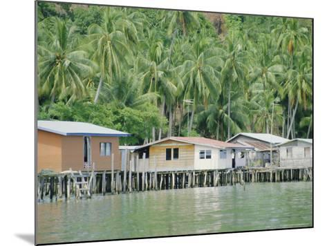 Stilt Houses of a Fishing Village, Sabah, Island of Borneo, Malaysia-Gavin Hellier-Mounted Photographic Print