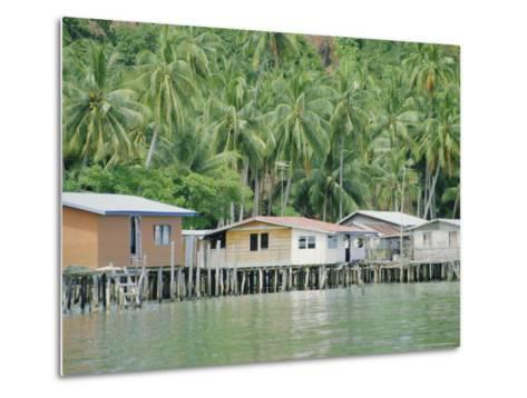 Stilt Houses of a Fishing Village, Sabah, Island of Borneo, Malaysia-Gavin Hellier-Metal Print