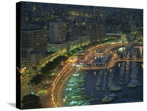 Harbour and Yachts and Twilight, Monte Carlo, Monaco, Mediterranean Coast, Europe-Gavin Hellier-Stretched Canvas Print