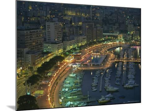 Harbour and Yachts and Twilight, Monte Carlo, Monaco, Mediterranean Coast, Europe-Gavin Hellier-Mounted Photographic Print