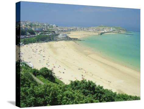 Porthminster Beach, St. Ives, Cornwall, England, UK-Gavin Hellier-Stretched Canvas Print