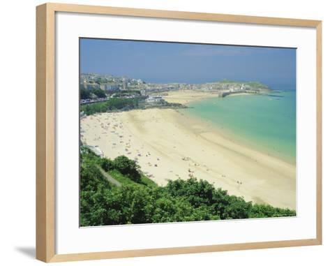 Porthminster Beach, St. Ives, Cornwall, England, UK-Gavin Hellier-Framed Art Print
