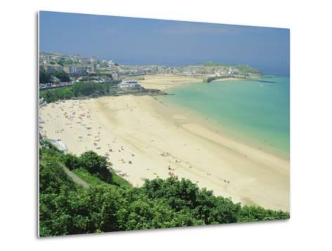 Porthminster Beach, St. Ives, Cornwall, England, UK-Gavin Hellier-Metal Print