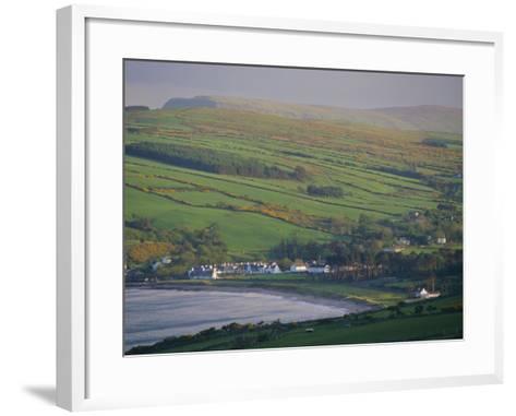 Coast, Hills and Cushendun, County Antrim, Ulster, Northern Ireland, UK, Europe-Gavin Hellier-Framed Art Print