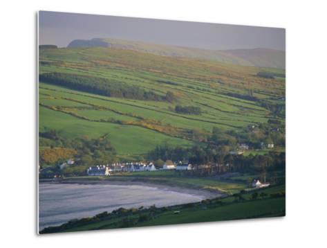 Coast, Hills and Cushendun, County Antrim, Ulster, Northern Ireland, UK, Europe-Gavin Hellier-Metal Print
