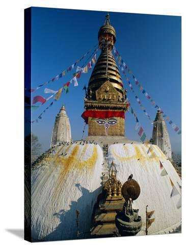 Swayambhunath Stupa (Monkey Temple), Kathmandu, Nepal, Asia-Gavin Hellier-Stretched Canvas Print