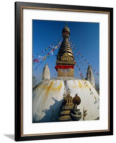 Swayambhunath Stupa (Monkey Temple), Kathmandu, Nepal, Asia-Gavin Hellier-Framed Art Print