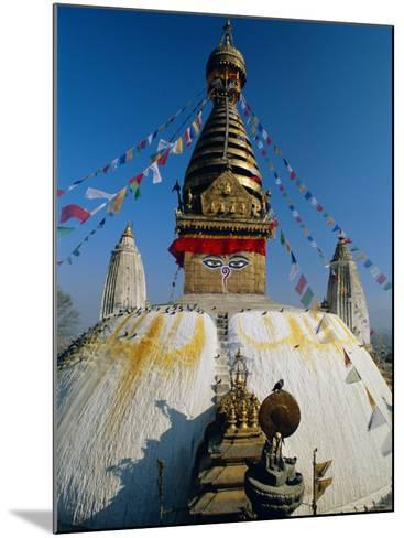 Swayambhunath Stupa (Monkey Temple), Kathmandu, Nepal, Asia-Gavin Hellier-Mounted Photographic Print
