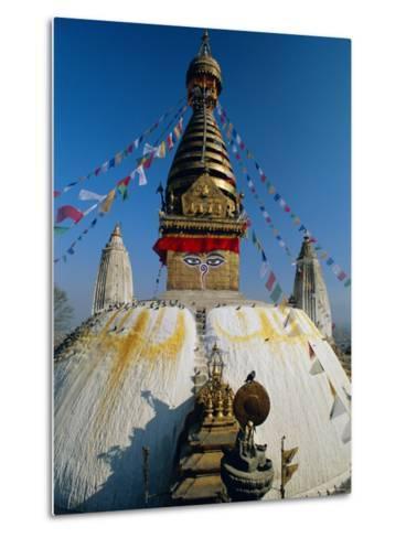 Swayambhunath Stupa (Monkey Temple), Kathmandu, Nepal, Asia-Gavin Hellier-Metal Print