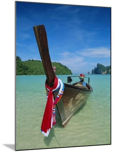 Typical Long Tail Boat, Ao Dalam Bay, Phi-Phi Don Island, Krabi Province, Thailand, Asia-Gavin Hellier-Mounted Photographic Print