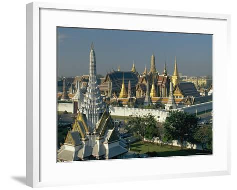 Wat Phra Kaew, the Temple of the Emerald Buddha, and the Grand Palace, in Bangkok, Thailand, Asia-Gavin Hellier-Framed Art Print