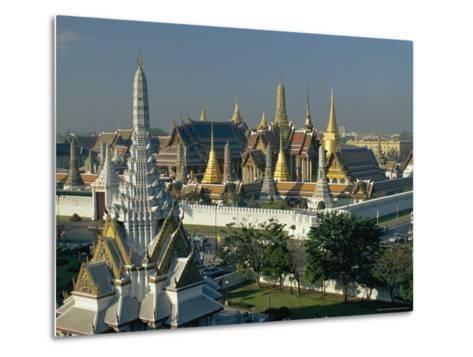 Wat Phra Kaew, the Temple of the Emerald Buddha, and the Grand Palace, in Bangkok, Thailand, Asia-Gavin Hellier-Metal Print