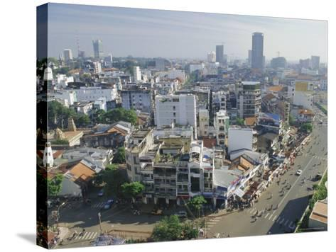 Skyline and Modern Construction, Ho Chi Minh City (Saigon), Vietnam, Indochina, Asia-Gavin Hellier-Stretched Canvas Print