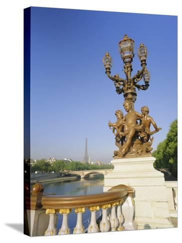 The Eiffel Tower and River Seine from the Pont Alexandre III (Bridge), Paris, France, Europe-Gavin Hellier-Stretched Canvas Print