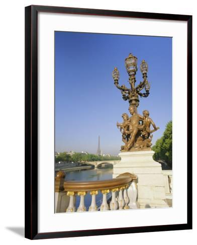 The Eiffel Tower and River Seine from the Pont Alexandre III (Bridge), Paris, France, Europe-Gavin Hellier-Framed Art Print