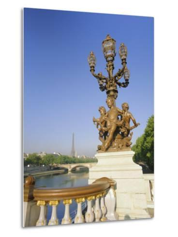 The Eiffel Tower and River Seine from the Pont Alexandre III (Bridge), Paris, France, Europe-Gavin Hellier-Metal Print