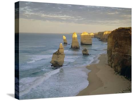 Sea Stacks on the Coast, the Twelve Apostles, Great Ocean Road, Victoria, Australia-Gavin Hellier-Stretched Canvas Print