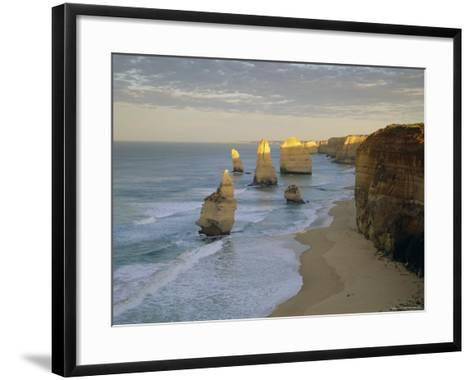 Sea Stacks on the Coast, the Twelve Apostles, Great Ocean Road, Victoria, Australia-Gavin Hellier-Framed Art Print