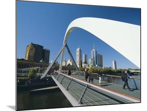 City Skyline from Southgate, Melbourne, Victoria, Australia-Gavin Hellier-Mounted Photographic Print