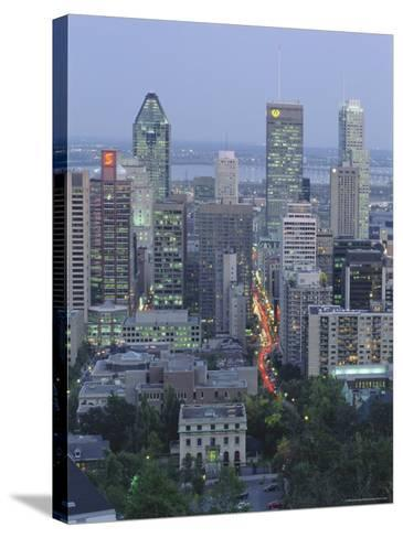 City Skyline, Montreal, Quebec Province, Canada-Gavin Hellier-Stretched Canvas Print