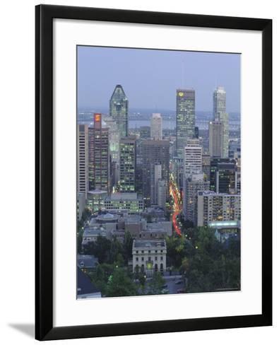 City Skyline, Montreal, Quebec Province, Canada-Gavin Hellier-Framed Art Print