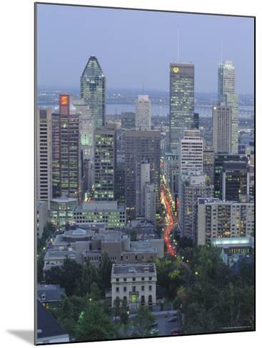City Skyline, Montreal, Quebec Province, Canada-Gavin Hellier-Mounted Photographic Print