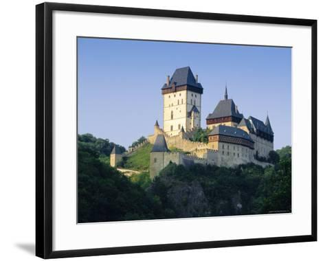 Karlstejn Castle, Central Bohemia, Czech Republic, Europe-Gavin Hellier-Framed Art Print