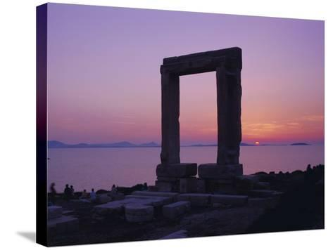Greek Temple of Apollo, Naxos, Cyclades Islands, Greece, Europe-Gavin Hellier-Stretched Canvas Print