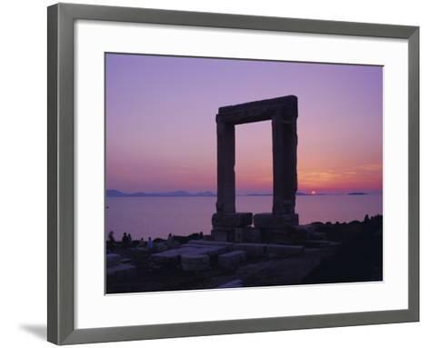 Greek Temple of Apollo, Naxos, Cyclades Islands, Greece, Europe-Gavin Hellier-Framed Art Print