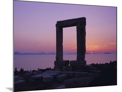 Greek Temple of Apollo, Naxos, Cyclades Islands, Greece, Europe-Gavin Hellier-Mounted Photographic Print