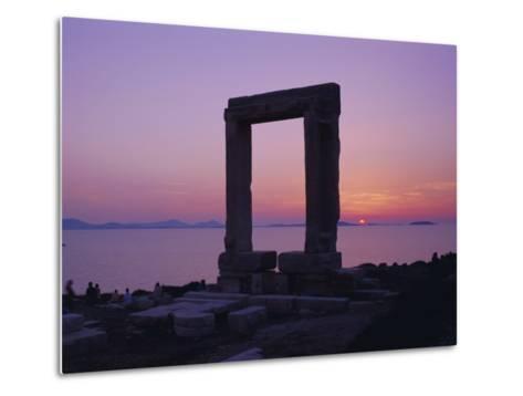 Greek Temple of Apollo, Naxos, Cyclades Islands, Greece, Europe-Gavin Hellier-Metal Print