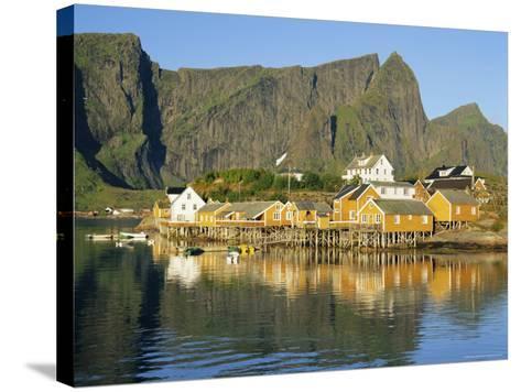 Moskenesoya, Fishing Village on Sakrisoya Island, Lofoten Islands, Nordland, Norway, Scandinavia-Gavin Hellier-Stretched Canvas Print