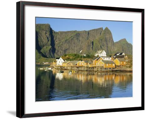 Moskenesoya, Fishing Village on Sakrisoya Island, Lofoten Islands, Nordland, Norway, Scandinavia-Gavin Hellier-Framed Art Print