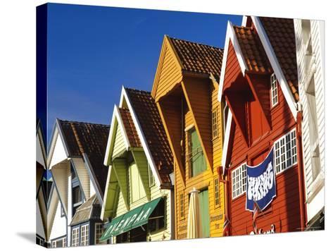 Old Wooden Buildings Along Skagenkaien, Stavanger, Norway, Scandinavia, Europe-Gavin Hellier-Stretched Canvas Print