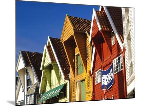 Old Wooden Buildings Along Skagenkaien, Stavanger, Norway, Scandinavia, Europe-Gavin Hellier-Mounted Photographic Print