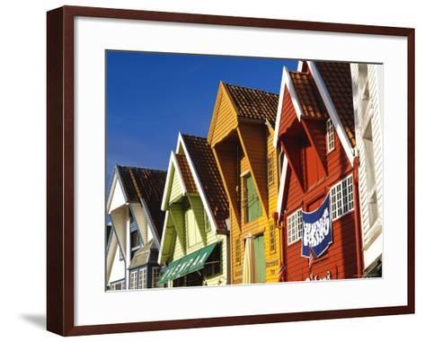 Old Wooden Buildings Along Skagenkaien, Stavanger, Norway, Scandinavia, Europe-Gavin Hellier-Framed Art Print