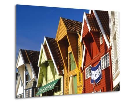 Old Wooden Buildings Along Skagenkaien, Stavanger, Norway, Scandinavia, Europe-Gavin Hellier-Metal Print