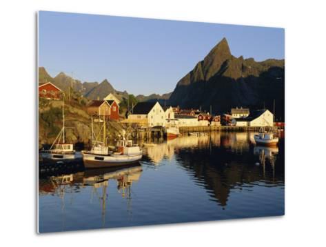 Fishing Village of Hamnoy, Moskenesoya, Lofoten Islands, Norway, Scandinavia, Europe-Gavin Hellier-Metal Print