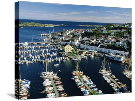 Risor, White Town on the Skagerrak, South Coast, Norway, Scandinavia, Europe-Gavin Hellier-Stretched Canvas Print